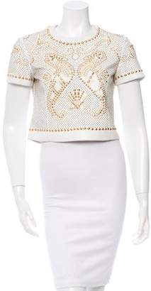 Versace Studded Leather Top