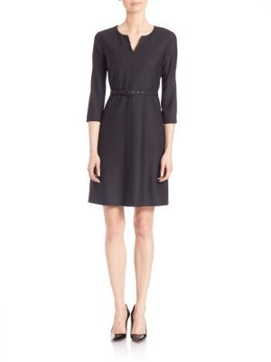 Max Mara Weekend Max Mara Solid Belted Dress