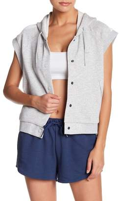 Puma Classics Sleeveless Button Down Hoodie