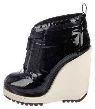 Marc Jacobs Leather Wedge Boots