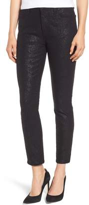 7 For All Mankind JEN7 by Floral Metallic Ankle Skinny Jeans