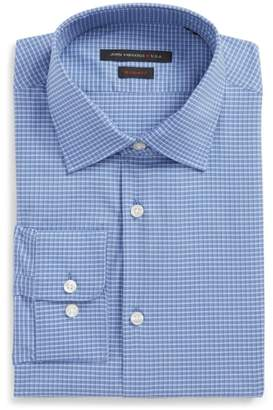 John Varvatos Regular Fit Stretch Plaid Dress Shirt