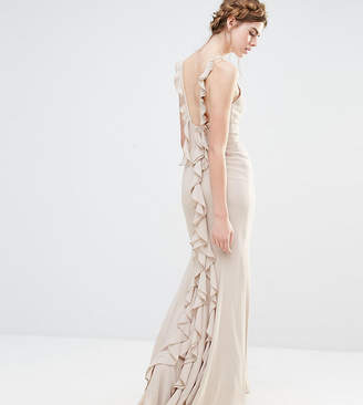 Jarlo Wedding Maxi Dress with Fishtail and Ruffles at Back