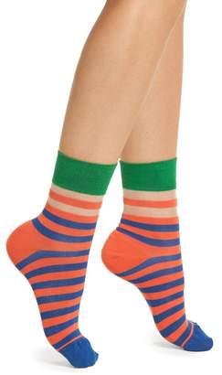 Happy Socks Hysteria by Verna Stripe Ankle Socks