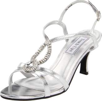 Touch Ups Women's Mindy Manmade T-Strap Sandal, Metallic