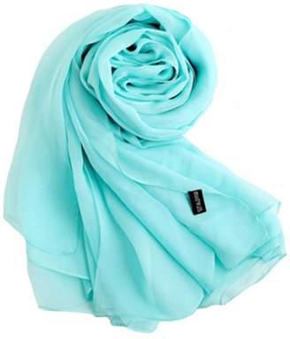 Express Kylin Oversized Silk Scarf Shawl Beach Wrap Scarves Neckerchief, Light