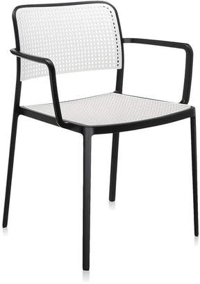 Kartell Audrey Chair With Arms - Black/White