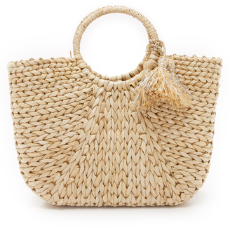 Hat Attack Round Handle Tote $112 thestylecure.com
