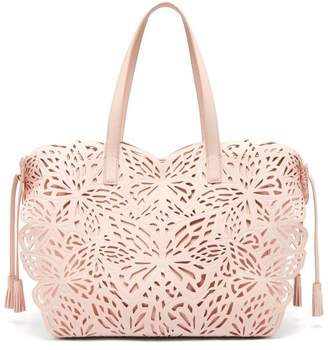 Sophia Webster Liara Butterfly Leather Tote - Womens - Light Pink