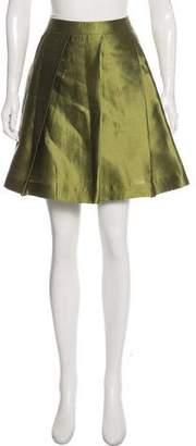 Miu Miu Knee-Length Silk Skirt