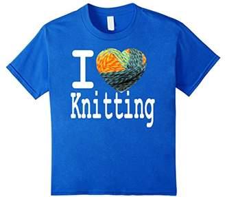 I love Knitting T-Shirt Yarn Shape Heart