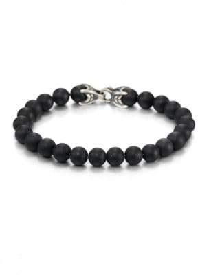 David Yurman Spiritual Bead Onyx Bracelet