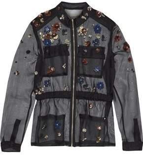 Katya Embellished Silk-Organza Jacket