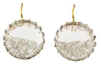 Renee Lewis 18K Diamond Shake Drop Earrings white Renee Lewis 18K Diamond Shake Drop Earrings