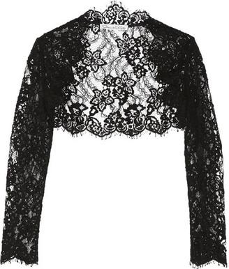 Oscar de la Renta - Cropped Cotton-blend Corded Lace Jacket - Black $1,490 thestylecure.com