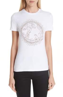 Versace Medusa Crystal Embellished Jersey Tee