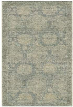 Pottery Barn Barret Custom Printed Rug - Porcelain Blue