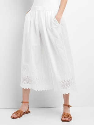 Eyelet wide-leg crop pants $59.95 thestylecure.com