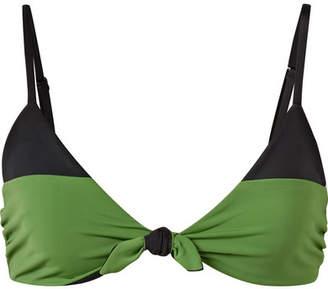 Mara Hoffman Carla Two-tone Triangle Bikini Top