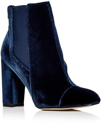 Sam Edelman Women's Case Velvet Cap Toe High-Heel Booties