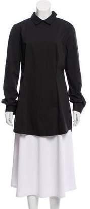 Prada Long Sleeve Point Collar Tunic