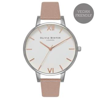 Olivia Burton VEGAN FRIENDLY BIG DIAL ROSE SAND & SILVER WATCH - 38MM