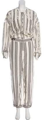 Issa Printed Silk Jumpsuit w/ Tags