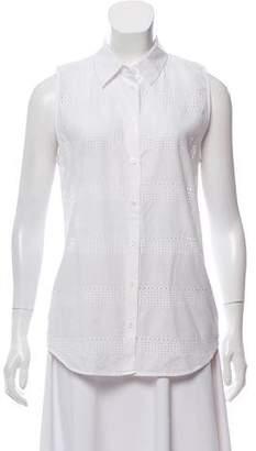 Equipment Sleeveless Button Up Shirt