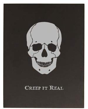 Cathy's Concepts Halloween and Harvest Creep It Real Skull Chalkboard