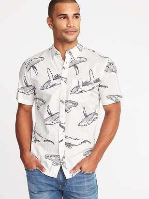 Old Navy Slim-Fit Built-In Flex Printed Shirt for Men