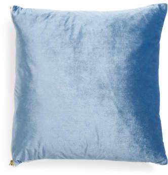 20x20 Reversible Velvet Linen Pillow