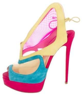 e9df7c0f3f02 Christian Louboutin Pink Peep Toe Pumps - ShopStyle