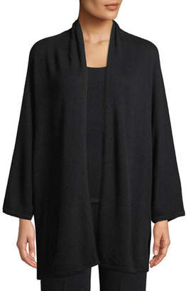 Neiman Marcus Cashmere Dolman-Sleeve Open-Front Cardigan