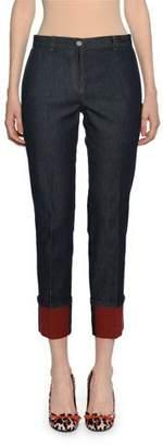 Bottega Veneta Cropped Cuffed Denim Pants