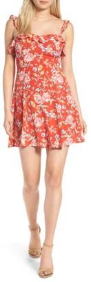 Women's Astr The Label Ruffle Floral Minidress $69 thestylecure.com