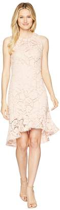 Vince Camuto Lace Sleeveless Bodycon Dress with Ruffle Flounce Hem Women's Dress