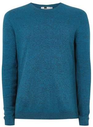 Topman Mens Navy Cobalt Blue Twist Sweater