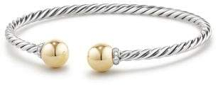 David Yurman Solari Bracelet With Diamonds And 18K Gold
