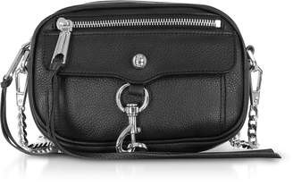 Rebecca Minkoff Black Pebbled Leather Blythe Xbody Bag