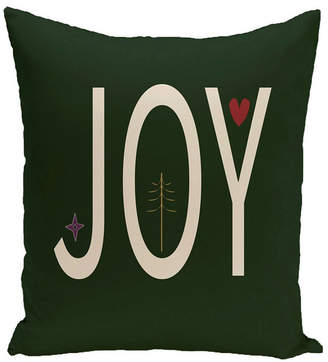 E By Design 16 Inch Dark Green and Off White Decorative Word Print Throw Pillow