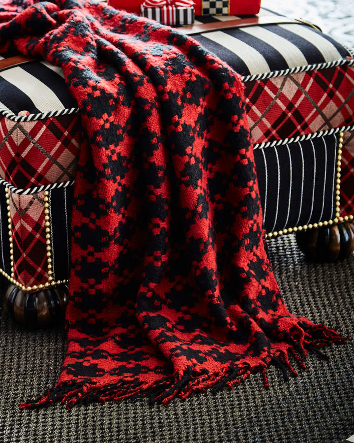 Mackenzie Childs Houndstooth Throw Blanket