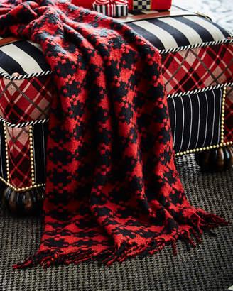 Mackenzie Childs Houndstooth Throw Blanket
