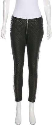 Etoile Isabel Marant Leather Quilted Cropped Pants