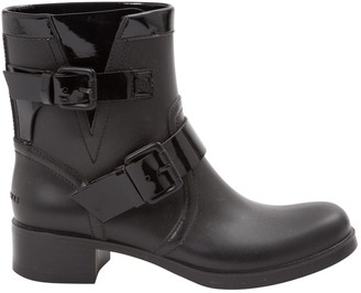 Non Signé / Unsigned Non Signe / Unsigned Black Rubber Ankle boots