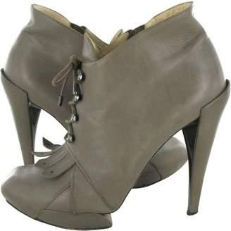 Nicholas Kirkwood Beige Leather Ankle boots