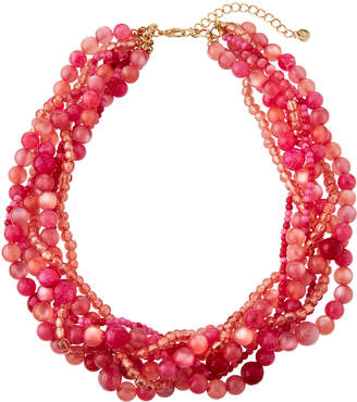 Lydell NYC Multi-Strand Torsade Necklace, Pink