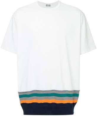 Kolor Beacon striped hem T-shirt