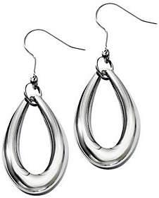 Steel by Design Stainless Steel Polished Teardrop Dangle Earrin gs