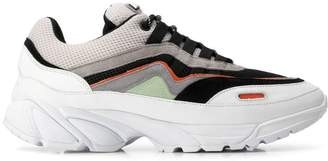 low panelled sneakers