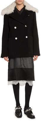 Proenza Schouler Shearling-Collar Oversize Coat